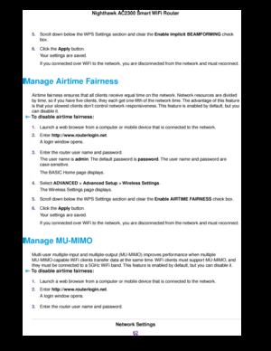 Netgear R7000p Nighthawk Smart Wifi Router With Mu Mimo User Manual