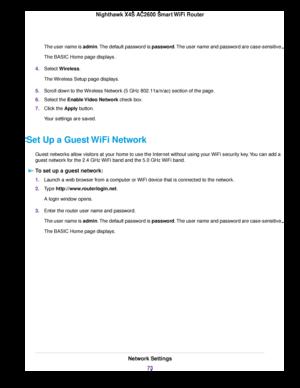 Netgear R7800 Nighthawk X4s Ac2600 Smart Wifi Router User Manual