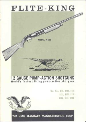 Pleasant High Standard K 100 12 Gauge Pump Action Shotgun Instructions Manual Wiring Cloud Mangdienstapotheekhoekschewaardnl