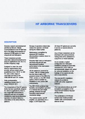 Marconi Selenia 915 Hf Airborne Transceiver Manual