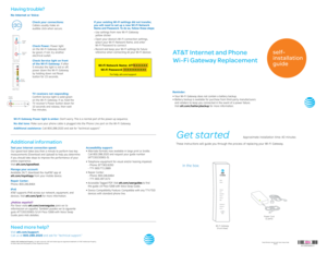 AT&T 150150901 5 UV Pace 5268 With Voice Swap Guide