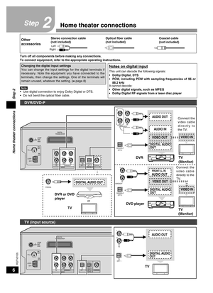 Panasonic Home Theater Audio System Sc-ht40 Operating Instructions