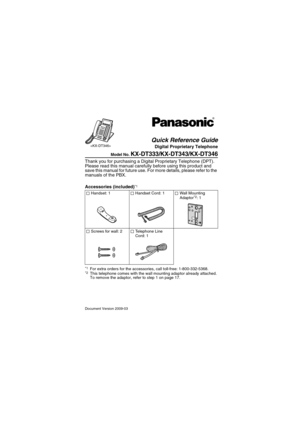 panasonic kx dt343 user manual