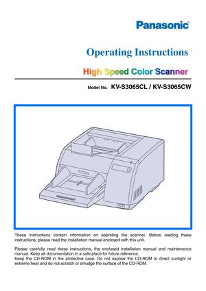 Panasonic CUA18PKD Operating Instructions Manual
