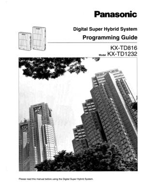panasonic kx td1232 programming manual
