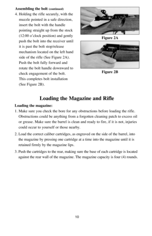 Sigarms Bolt Action Rifle Shr970 Instructions Manual