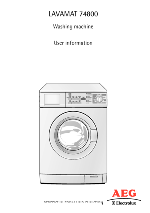 aeg lavamat 74800 information manual. Black Bedroom Furniture Sets. Home Design Ideas
