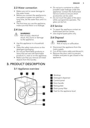 aeg washing machine user manual