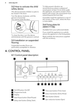 aeg washing machine user manual