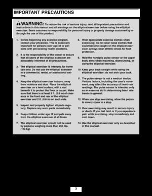 ProForm Elliptical 390 E Owners Manual