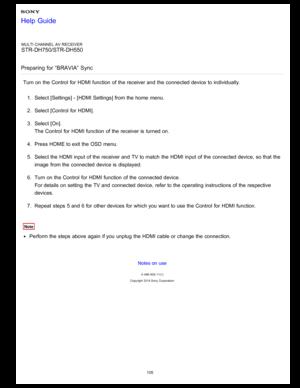 Sony STRDH550 User Manual