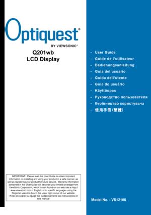 ViewSonic Q201wb Manual