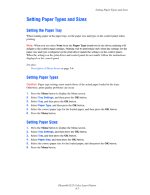 Xerox Phaser 6125N User Manual