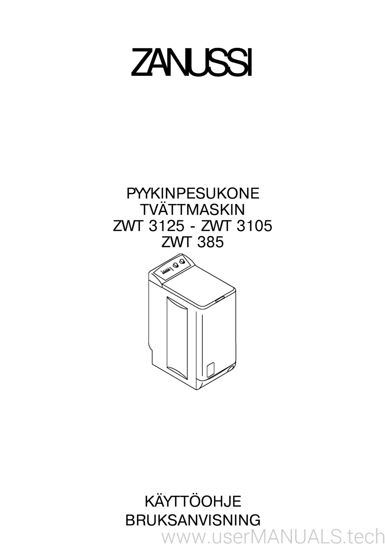 Инструкция инструкция zanussi zwt 3105